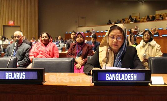 'বাংলাদেশ বিশ্বে রোল মডেল' জাতিসংঘে চুমকি