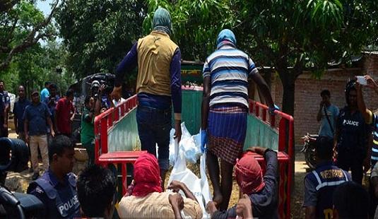 রাজশাহীতে জঙ্গি আস্তানা : পাঁচ জঙ্গির মরদেহ কোয়ান্টাম ফাউন্ডেশনে হস্তান্তর, দুপুরে দাফন