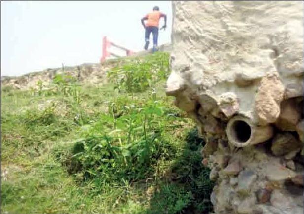 সুনামগঞ্জে সেতু নির্মাণে রডের বদলে বাঁশ