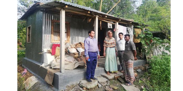 জগন্নাথপুরে প্রধানমন্ত্রীর ১৯৮টি গৃহহীন পরিবারকে নতুন ঘর