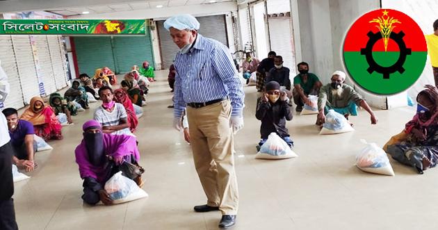 এবার প্রতিবন্ধী, ভিক্ষুক ও হতদরিদ্রদের পাশে বিএনপি নেতা এমদাদ হোসেন চৌধুরী