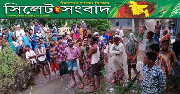 পাহাড়ি ঢলে সুনামগঞ্জের নদীতে পানি বৃদ্ধি অব্যাহত