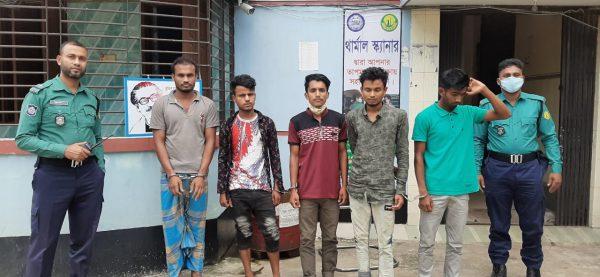 জালালাবাদ থানা পুলিশের অভিযানে ইয়াবা'সহ সুনামগঞ্জের ৫ যুবক আটক
