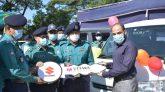 বিভিন্ন ইউনিটে ৬টি গাড়ি হস্তান্তর করলেন এসএমপি কমিশনার